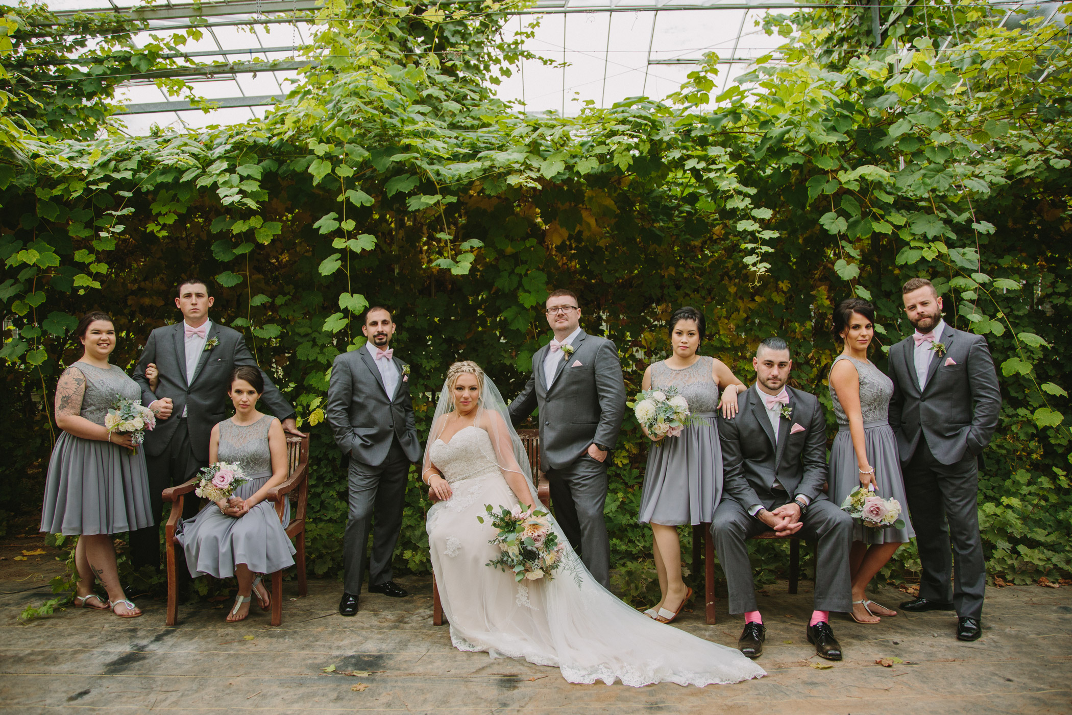Wedding Party Portrait at Glasshouse Estate Winery