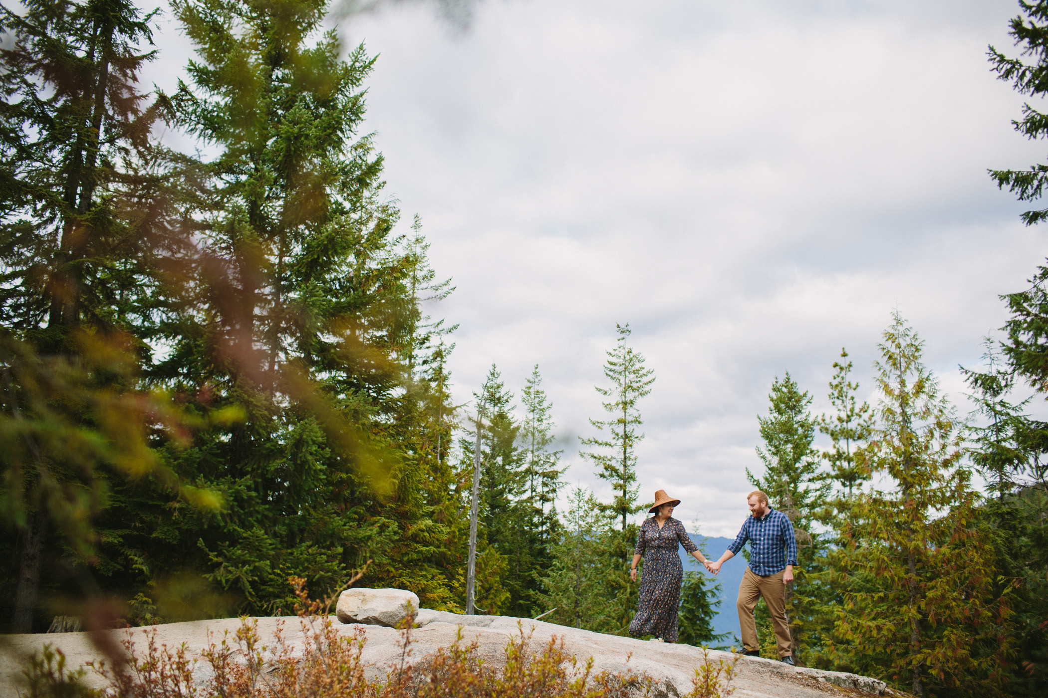 Engagement Session with Indigenous Cedar Hat