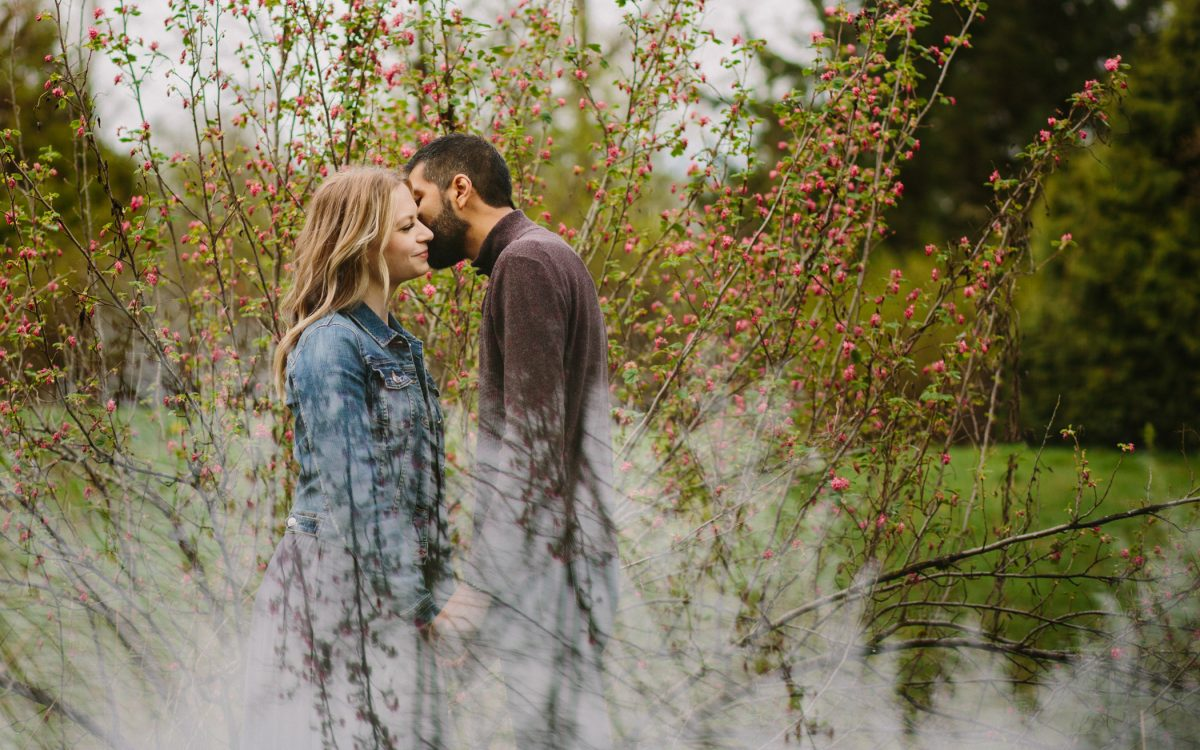 Creative Jericho Beach Engagement Photo