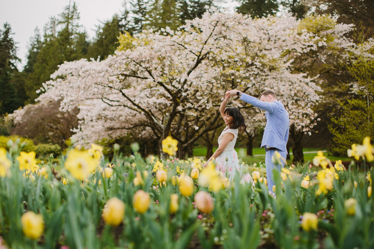 Springtime Engagement Session in Vancouver