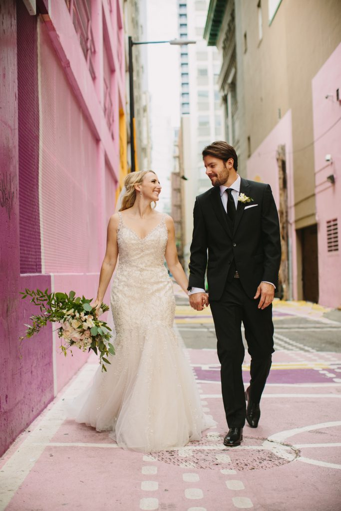 Vancouver Wedding Portrait in Alley Oop