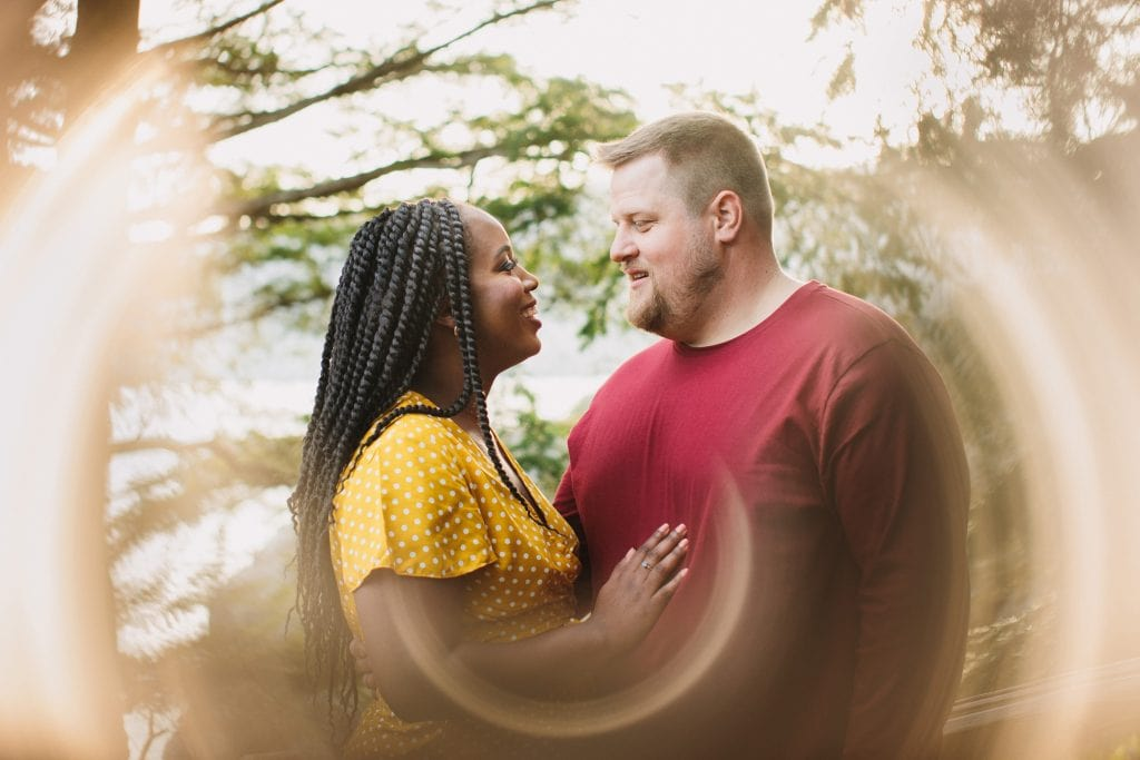 Creative engagement portraits in North Vancouver