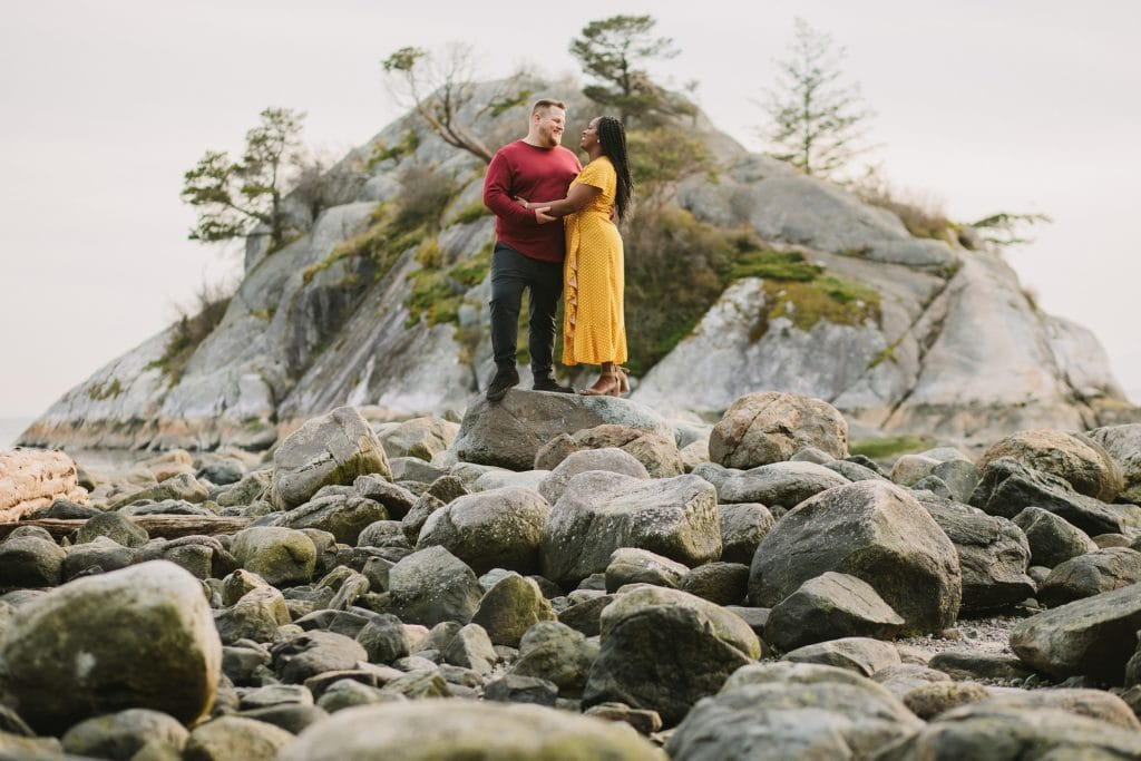 Engagement session at Whytecliff Park
